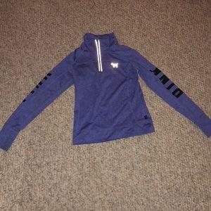 PINK half zip athletic jacket